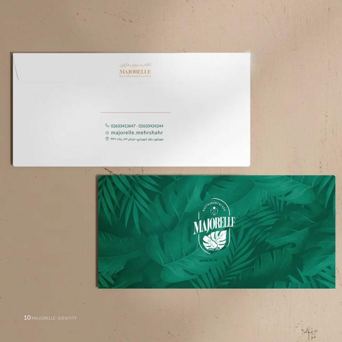 پاکت نامه ملخی طراحی شده در بخش هویت سازمانی ماژورل