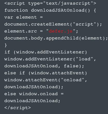 defer loading code javascript