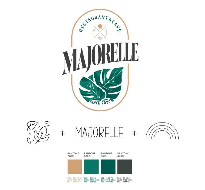 رنگ سازمانی و لوگو ماژورل